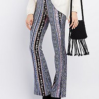 ABSTRACT PRINT FLARE PANTS