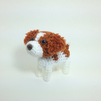 Brittany Pet Lover Gift Crochet Dog Ornament Stuffed Animal Puppy Amigurumi Office Decor / Made to Order