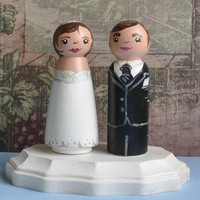 Wedding Cake Topper Signature Series by theenchantedcupboard