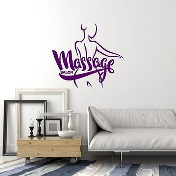 Vinyl Wall Decal Massage Spa Salon Woman Relaxing Room Interior Art Stickers Mural (ig5799)