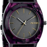 Nixon Time Teller Acetate Gunmetal & Velvet Analog Watch