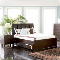 Lorretta Contemporary Platform Bed