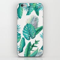 Tropical leafs pattern iPhone Skin by printapix