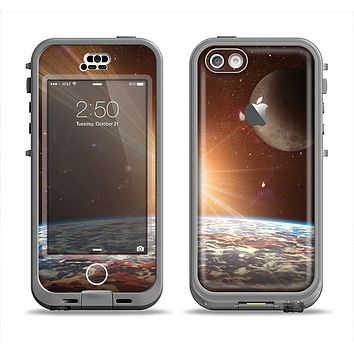 The Earth, Moon and Sun Space Scene Apple iPhone 5c LifeProof Nuud Case Skin Set
