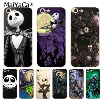 MaiYaCa Jack Skellington The Nightmare Before Christmas Ultra Phone Case for iPhone 8 7 6 6S Plus X 5 5S SE 5C case Cover