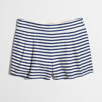 Factory pleated stripe short : 3"