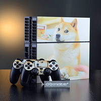 eXtremeRate® Full Set Doge Decal Skin Sticker for PS4 Playstation 4 Console