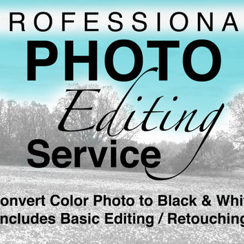 Professional Photo Editing Convert Color Photo To Black and White Digital Photo Editing Basic Photo Retouching Photo Restoration Photography