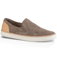 UGG® Adley Perforated Suede Leather Heel Slip On Sneakers | Dillards