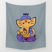 Ganesha Wall Tapestry by Vanya