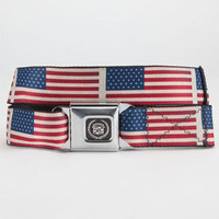 Buckle-Down Caddie Flag Buckle Belt Red/White/Blue One Size For Men 23312594801