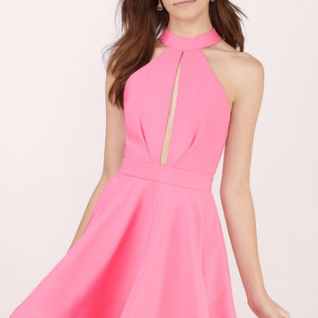 Midnight Lover Halter Skater Dress