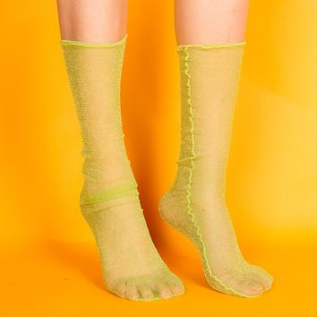 Diamond Sheer Sock | Green