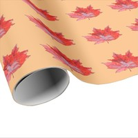 Pomegranate Wet Leaf Wrapping Paper