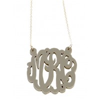 Acrylic Monogram Necklace- LargePurchase