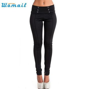 Womail Dancing Poppy 2017 New Style Women High Waist Skinny Stretch Pencil Short Pants Long Slim Trousers