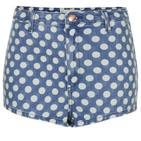 MOTO High Waisted Spot Hotpant - Topshop USA