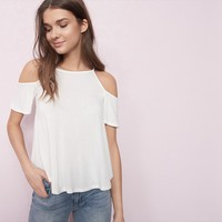 Sport Neck Swing Cold Shoulder Top