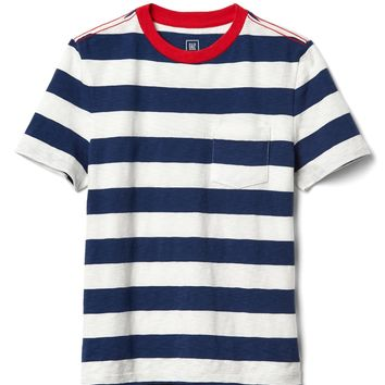 Stripe pocket slub tee | Gap
