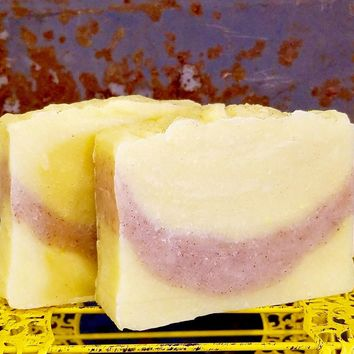 Lemon Vanilla Bean Handmade Soap