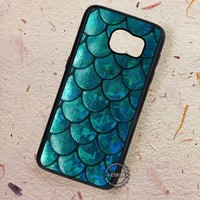 Mermaid Tail Texture Blue - Samsung Galaxy S7 S6 S5 Note 7 Cases & Covers