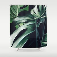 Monstera Deliciosa Shower Curtain by lostanaw