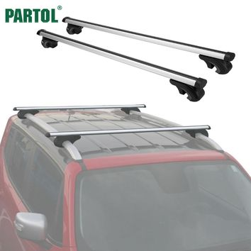 Partol Universal 120CM Car Roof Racks Cross Bars Crossbars 68kg 150LBS For Car With Side Rails Work With Kayak Cargo Ski Racks