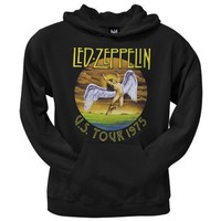 Led Zeppelin - Mens Tour 75 Pullover Hoodie - Medium Black
