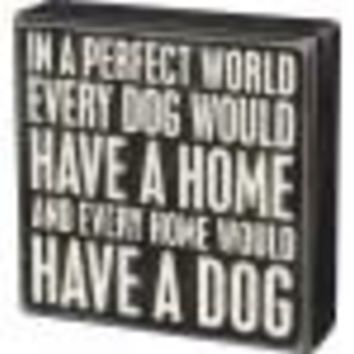 Perfect World Box Sign By Primitives By Kathy