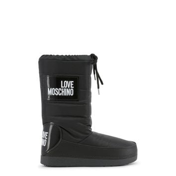 New! Fall Winter Love Moschino Black Boots