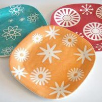 Starburst Plate Orange by MudHandChan on Etsy