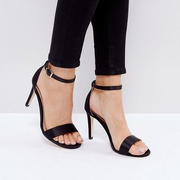 Call It Spring Ahlberg Satin Barely There Heeled Sandals at asos.com