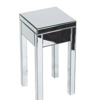 Ave Six REF09-SLV Reflections End Table