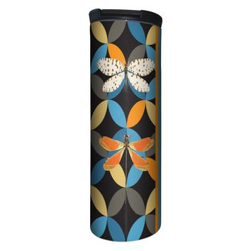 Bright Dragonflies Barista Tumbler Travel Mug - 17 Ounce, Spill Resistant, Stainless Steel & Vacuum Insulated