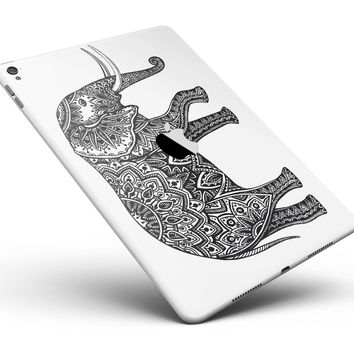 "Black and White Aztec Ethnic Elephant Full Body Skin for the iPad Pro (12.9"" or 9.7"" available)"