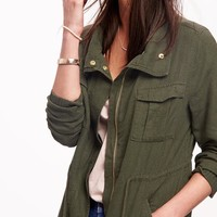 Linen-Blend Field Jacket for Women | Old Navy