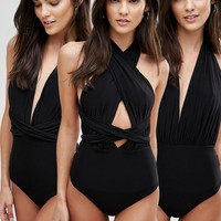 Goddiva Multiway Swimsuit at asos.com
