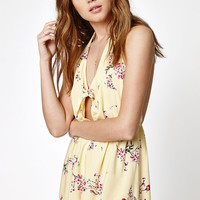 Kendall and Kylie Halter Knot Front Romper at PacSun.com