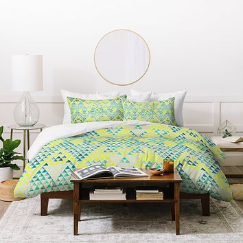 Pattern State Triangle Marine Duvet Cover
