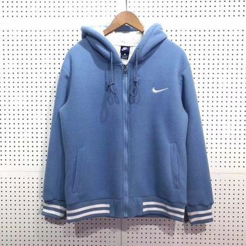 PEAP2Q nike women s warm lambs wool cardigan sweater zip hoodie