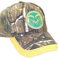NCAA Licensed Colorado State Rams Embroidered Team Logo Camo Baseball Style Hat Cap