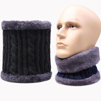 Men Winter Warm knitted mink Neck Scarf Women Children Boys Scarf male Thickened Wool fur Collar Scarves Lic Girls Cotton Unisex