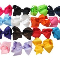 Large Boutique 5.5in Hair Bows for Teens Women Girls Baby Gifts 15pcs ⌘ Fashion Accessories