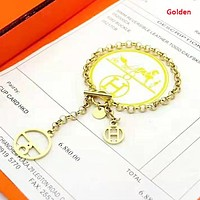 Hermes Women Fashion New Personality Bracelet Accessories Golden
