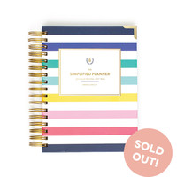 2016 Daily Simplified Planner in Happy Stripes by Emily Ley