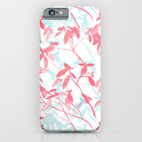 Premonition (Coral Mint) iPhone & iPod Case by Jacqueline Maldonado