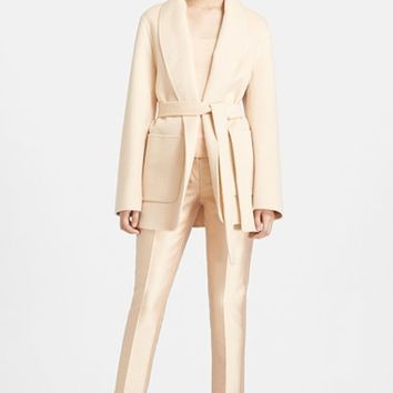Women's Michael Kors Plush Melton Wool Jacket