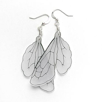 Bumblebee wing dangle earrings