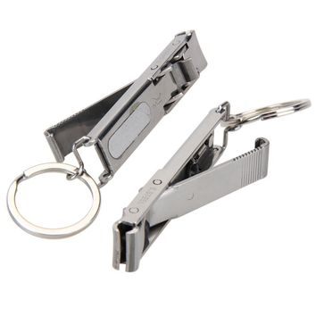 Cheap New Portable EDC Ultra-thin Foldable Hand Toe Nail Clippers Cutter Stainless Keychain Outddor Camping Hiking Travel Tool