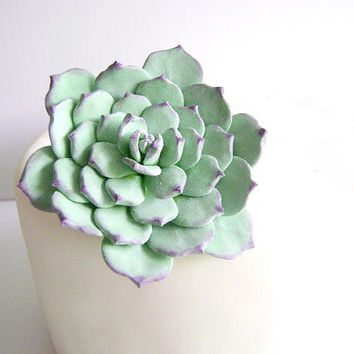 Succulent Wedding Cake Topper. Clay Succulent Cake Decor. Wedding Cake Flower